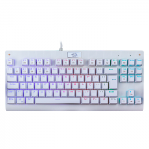 Teclado Gamer Redragon Mecânico Dark Avenger Lunar White K568W RGB Switch MK2 Red ABNT2