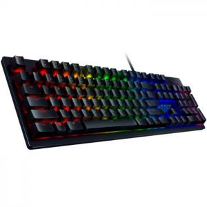 Teclado Razer Huntsman Black Opto-Mechanical - Switch Clicky Purple