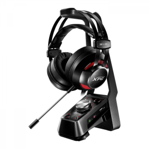 Fone Gamer XPG Emix H30 com Base Station SoloX F30 e Suporte Som Surround 7.1 Drivers 53mm