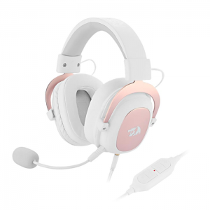 # BLACK NOVEMBER # Fone Redragon Zeus Sakura Edition USB 7.1 Surround Branco e Rose Gold - H510W