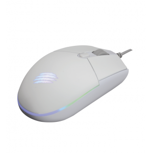 Mouse OEX Game Orium Branco MS323 3.200dpi Led Rainbow 92 gramas