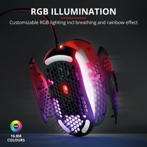 Mouse Gamer Trust GXT 960 Graphin 74 Gramas RGB Ultra Leve - T23758