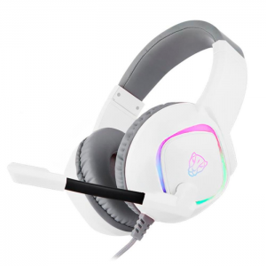 Fone Gamer Motospeed G750 RGB USB 7.1 Virtual Drivers 40mm Branco - FMSHS0103BRO