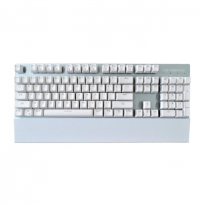 Teclado Gamer Mecânico Motospeed GK89 Branco Bluetooth Switch Brown Led Azul