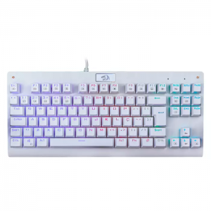 Teclado Gamer Redragon Mecânico Dark Avenger Lunar White K568W-R Switch MK2 Blue Led Rainbow ABNT2