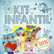 Kit Infantil Revista Dvd e Cds