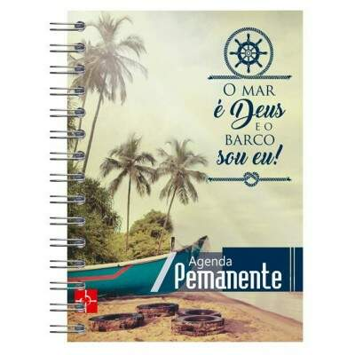 Mini Agenda permanente - O Mar é Deus...