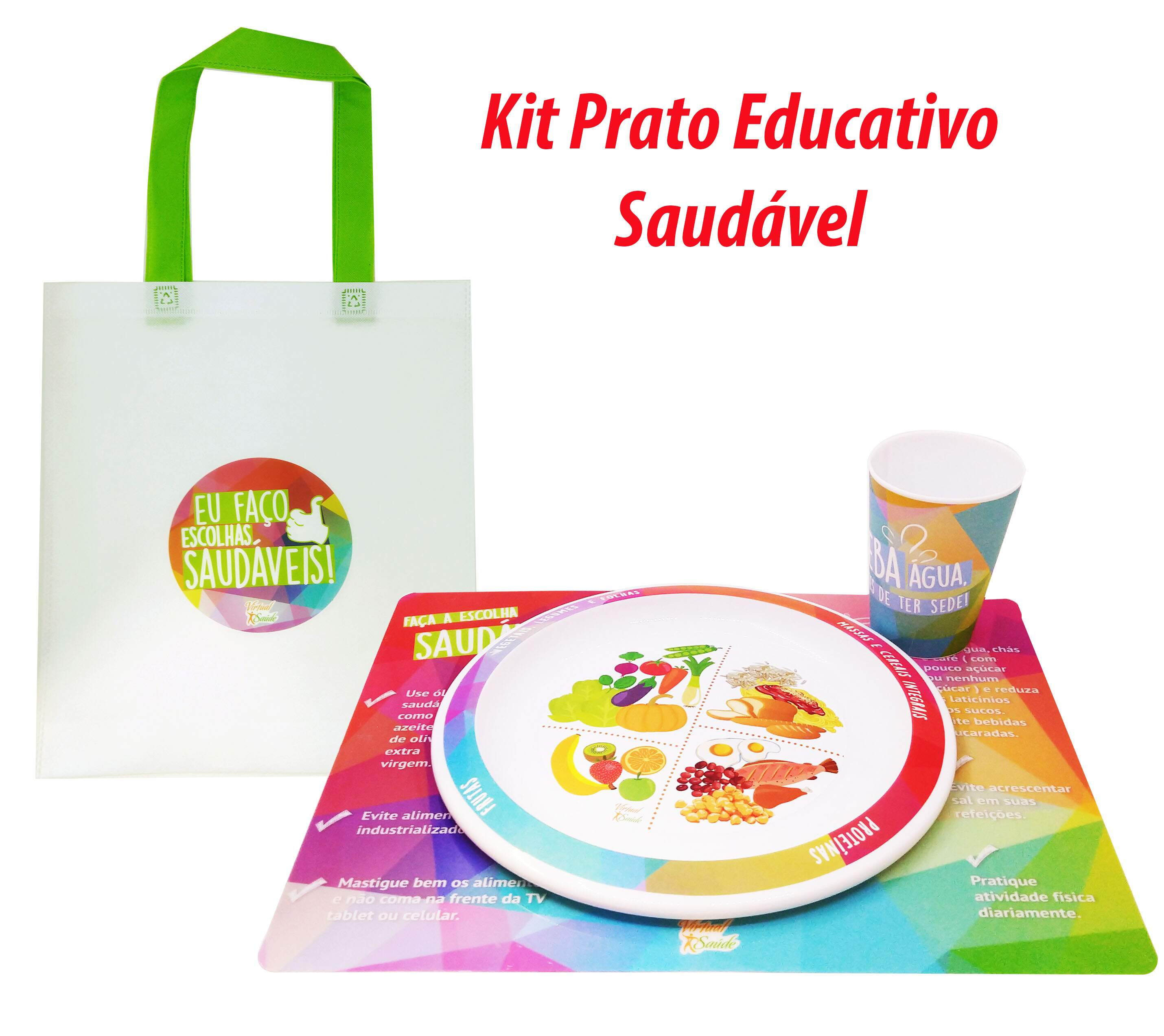 Kit Prato Educativo Saudável