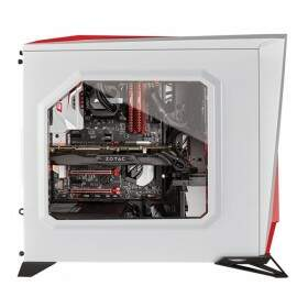 Gabinete Gamer Corsair Carbide Spec Alpha CC-9011083-WW White/Red