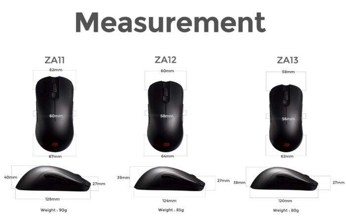 Mouse Zowie Gear ZA12 USB Preto 9H.N07BB.A2E - BOX