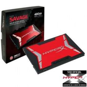 SSD Kingston HyperX Savage 480GB SATA III 6Gb/s Leituras: 520MB/s e Gravações: 530MB/s - SHSS37A/480G