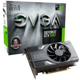 Placa de Vídeo VGA EVGA GeForce GTX 1060 6GB DDR5 PCI-E 3.0 - 06G-P4-6161-KR