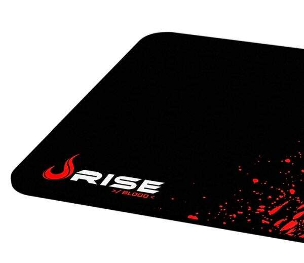 MousePad Rise Gaming Blood Médio Bordas Costuradas - RG-MP-04-BD
