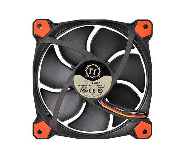 Kit 3 Unidades Cooler FAN Thermaltake Riing 12 Fan Led Red 1500RPM CL-F055-PL12RE-A