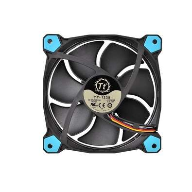 Kit 3 Unidades Cooler FAN Thermaltake Riing 12 Fan Led Blue 1500RPM CL-F055-PL12BU-A