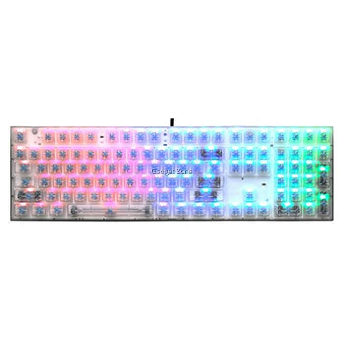 Teclado CoolerMaster Masterkeys Pro L Crystal Edition Cherry Brown c/ LED RGB - SGK-6020-TPCM1-US