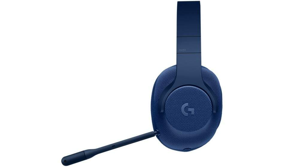 Fone Logitech G433 USB 7.1 Surround Gaming - Blue Edition