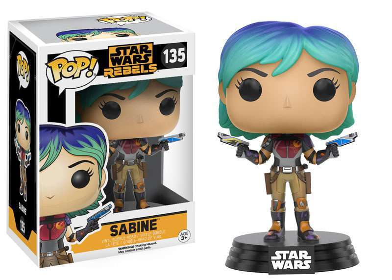 Boneco Funko Pop - Star Wars Rebels - Sabine - 135