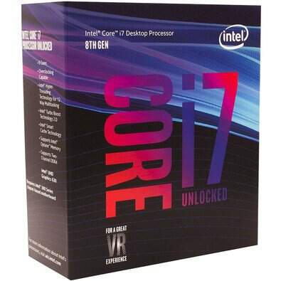 Processador Intel Core i7-8700K Coffee Lake 8a Geração, Cache 12MB, 3.7GHz (4.7GHz Max Turbo), LGA 1151 Intel UHD Graphics 630 - BX80684I78700K