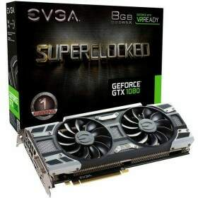 Placa de Vídeo VGA NVIDIA EVGA GEFORCE GTX 1080 8GB SC GAMING ACX3.0 GDDR5X 256 bits 4K Ready PCI-E 3.0 08G-P4-6183-KR
