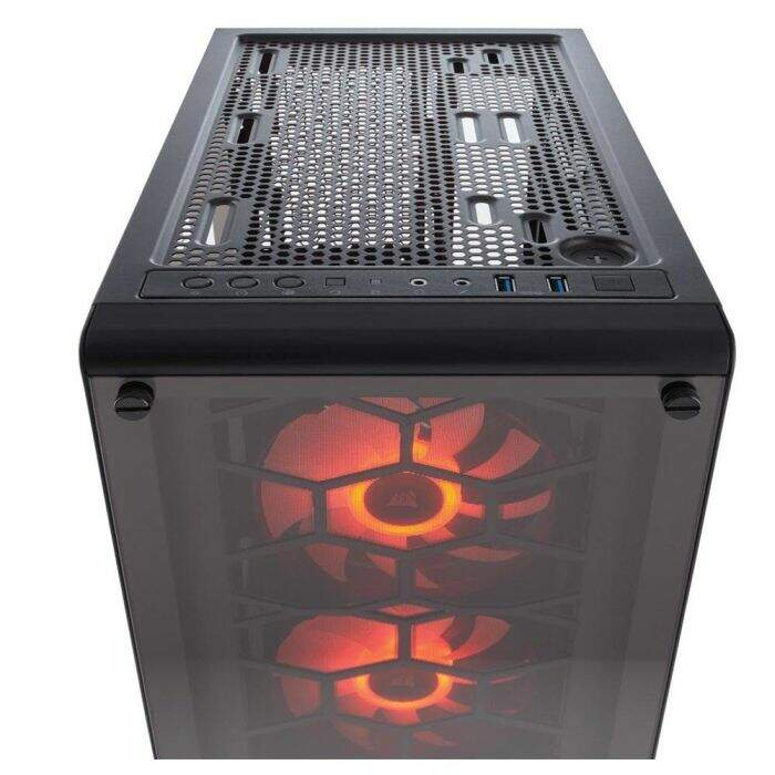 Gabinete Corsair Gamer Crystal Series 460X RGB Vidro Temperado ATX CC-9011101-WW
