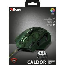 Mouse Trust Gamer GXT 155C Caldor Green Camouflage RGB 4.000 DPI