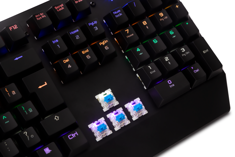 # BLACK NOVEMBER # Teclado Gamer Dazz Ballistic Mecânico Switch Outemu Blue - 624871