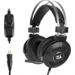 Fone Gamer Redragon Triton USB 7.1 Surround H991 Preto com Noise Cancelling Ativo