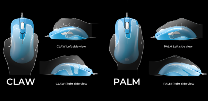 Mouse Zowie Gear S1 USB Divina Blue Edition - PMW 3360