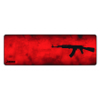 MousePad Rise Gaming AK47 Red Extended Bordas Costuradas - RG-MP-06-AKR