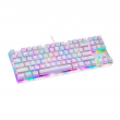 Teclado Gamer Mecânico Motospeed K87S Branco Switch Outemu Blue c/ Led RGB - FMSTC0006AZL