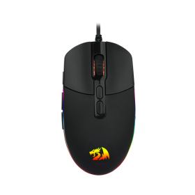 Mouse Gamer Redragon Invader Black RGB 10000dpi M719-RGB