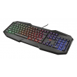 Teclado Trust Gamer GXT 830 Avoon Rainbow Black - T21621