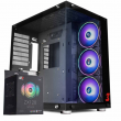 Gabinete DT3sports Hyperspace Vidro Temperado com Kit Fan ZX120 Sync Pro