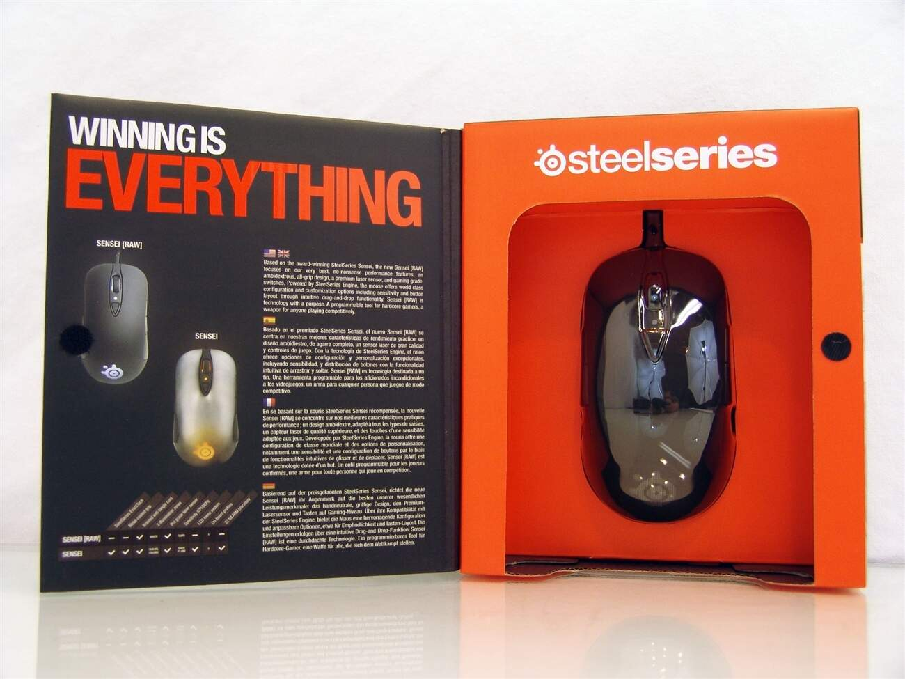 Mouse SteelSeries Sensei RAW Glossy