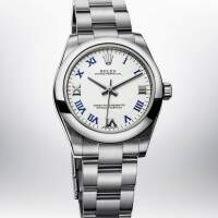 Rolex Oyster Perpetual White Blue