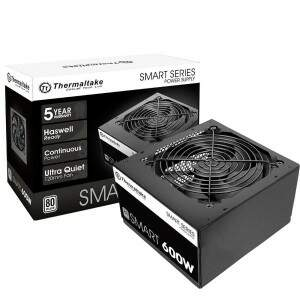 Fonte Thermaltake 600W reais SMART - PS-SPD-0600NPCWBZ-W (80 plus)