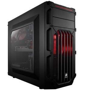 Gabinete CORSAIR CARBIDE SPEC03 Shade Red LED - CC-9011052-WW