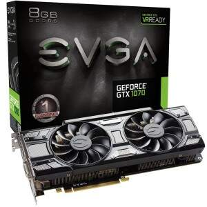 Placa de Vídeo Nvidia Geforce GTX 1070 8GB GDDR5 256bit EVGA - 08G-P4-5173-KR