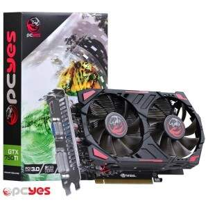 Placa de Vídeo Nvidia Geforce GTX 750 TI 2GB GDDR5 128bit PCYES - PPV750TI12802D5
