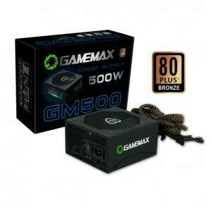 Fonte Gamemax 500W Reais PFC Ativo - GM500 (80 Plus Bronze)