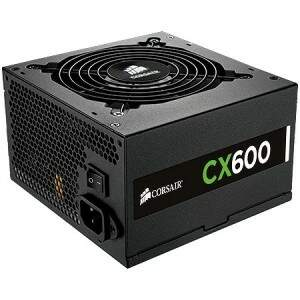 Fonte Corsair 600W Reais CX600 - CP-9020048-WW (80 Plus Bronze)