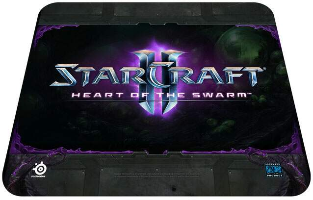 Mousepad Steelseries Qck Starcraft II Heart of the Swarm Logo Edition