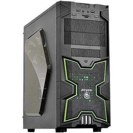 Gabinete PCYes ATX Mid tower Fox Verde