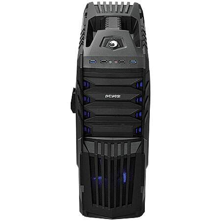 Gabinete PCYes ATX Mid tower Tiger PRETO c/suporte para Headset