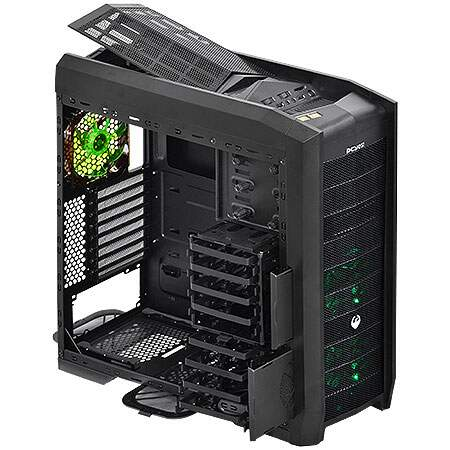 Gabinete PCYes ATX Full tower Dragon Verde