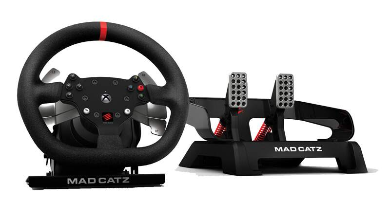 Volante Mad Catz Pro Racing Force Feedback Wheel and Pedals for Xbox One
