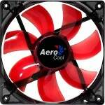Cooler Fan Aerocool Lightning 12cm RED LED EN51363 Vermelho