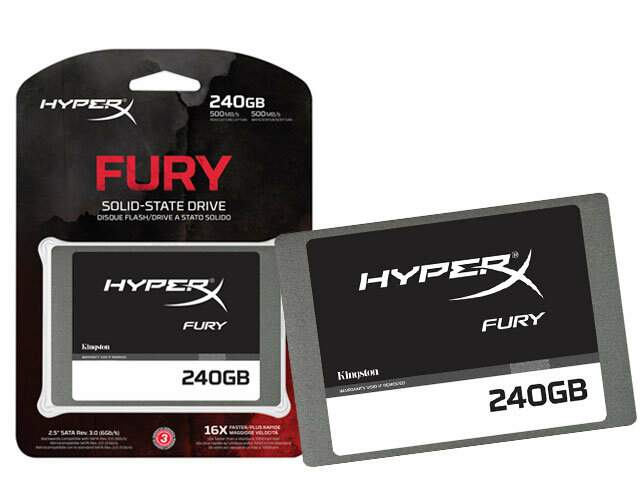 SSD Kingston HyperX Fury 2.5 240GB SATA III