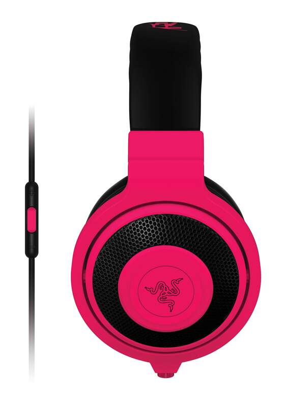 Fone Razer Kraken Neon Mobile Red - PS4/PC